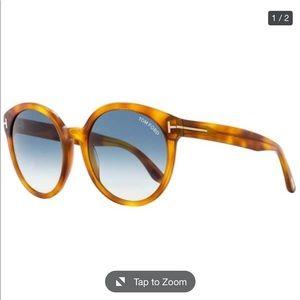 TOM FORD/ Philippa Blonde Havana Sunglasses